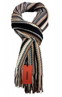 Missoni wool blend zig-zag knit scarf