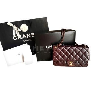 Chanel Paris/Salzburg Burgundy Classic Flap Bag