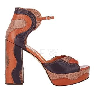 Derek Lam Kimble Leather & Snakeskin Sandals