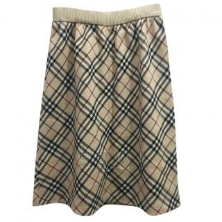 Bburberry Blue Label Housecheck Skirt