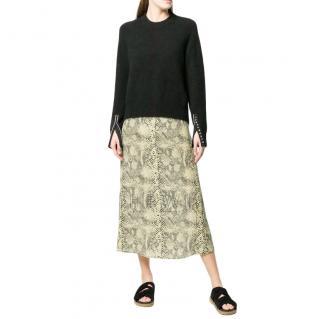 3.1 Phillip Lim Alpaca Blend Embellished-Cuff Pullover