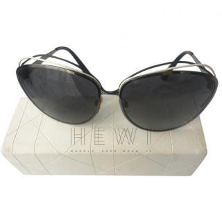 Dior Wire Cut-Out Sunglasses