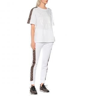 Fendi Logo cotton-blend trackpants