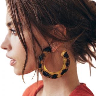 Cult Gaia Kennedy Tortoiseshell Large Flat Hoop Earring