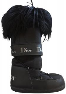 Christian Dior Black Snow Boots