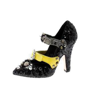 Dolce & Gabbana Sequin Embellished Mary-Jane Pumps