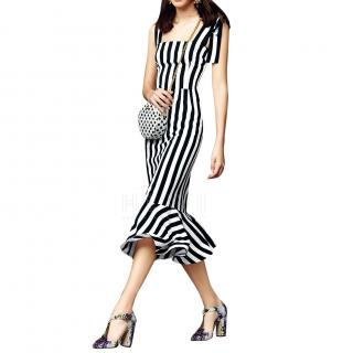 Dolce & Gabbana Striped Midi Dress