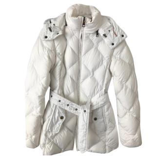 Burberry Brit White Down Hooded Jacket