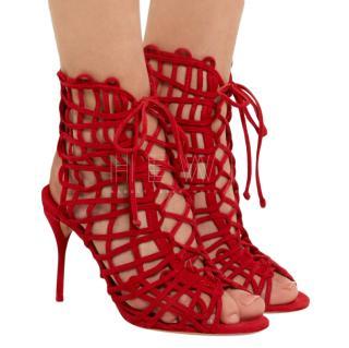 Sophia Webster Red Delphine booties