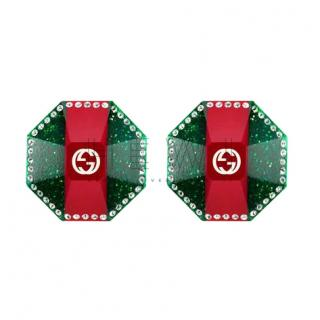Gucci Web Stripe crystal-embellished earrings