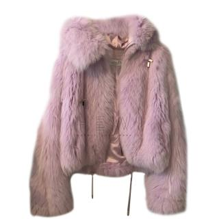 Dior Pink Fox Fur Jacket