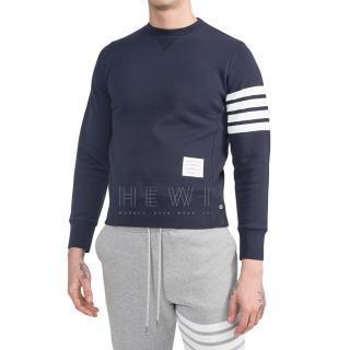 Thom Browne Navy Engineered 4-Bar Jersey Sweatshirt