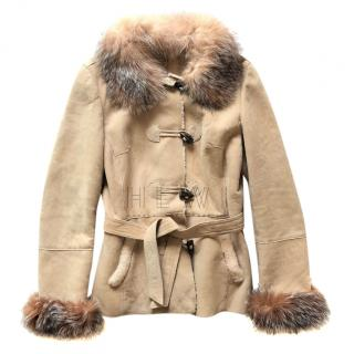 Ventcouvert Beige Shearling Jacket