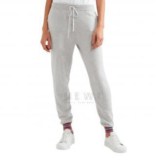 Chinti and Parker Stripe Cuff cashmere track pants