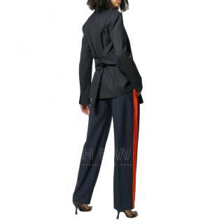 Victoria Victoria Beckham Bow Back Jacket in Midnight