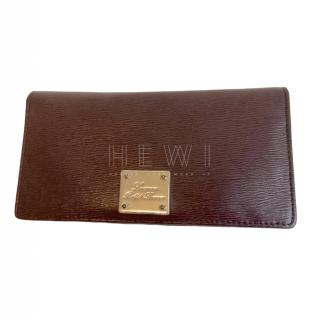 Lauren Ralph Lauren Bordeaux Saffiano Leather Wallet