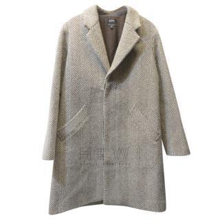 A.P.C Woven Tweed Coat