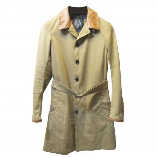 Belstaff Beige Leather Trim Coat