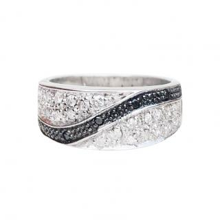 Besppoke Black & White Diamond Cluster Ring