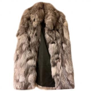 Miller Ski Wear silver grey artic fox gilet