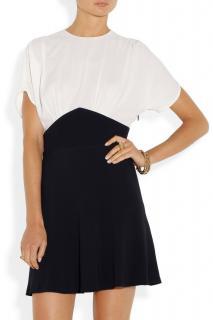 Miu Miu Black & White Colourblock Mini Dress