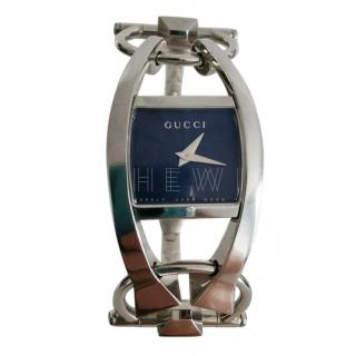 Gucci Silver Tone Chiodo 123 Watch