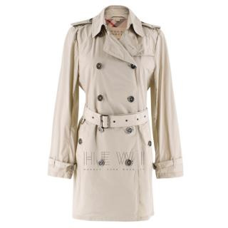 Burberry Brit Classic Beige Double-breasted Trench Coat