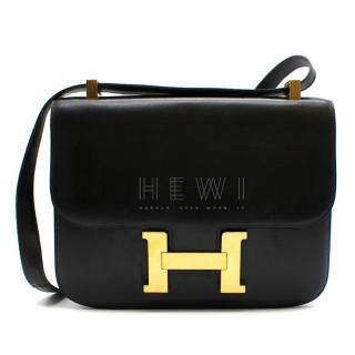 Hermes Black Box Leather Constance 24 Bag