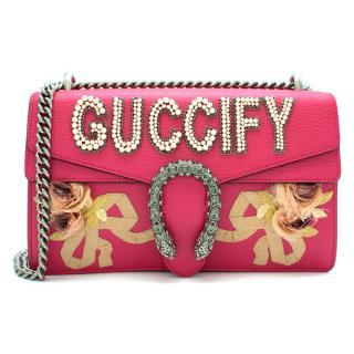 Gucci Pink Embellished Guccify Dionysus Bag