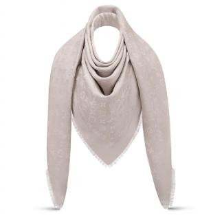 Louis Vuitton Silk & Wool Monogram Shine Shawl