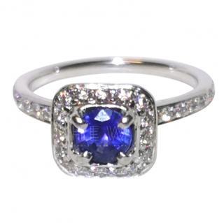 Bespoke Tanzanite & Diamond Halo Ring