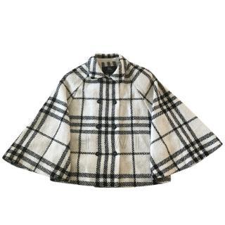 Burberry Girl's Plaid Wool Cape