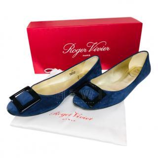 Roger Vivier Sapphire Blue Ballerina Flats