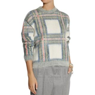 Stella McCartney Plaid-intarsia knitted sweater