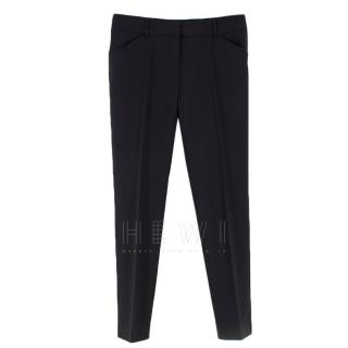 Dolce & Gabbana Black Straight Leg Trousers