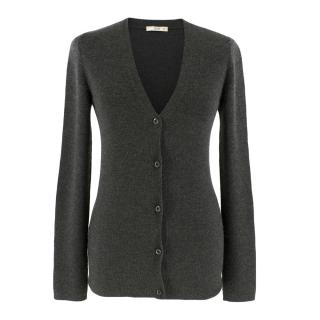 Prada Grey Cashmere & Silk Cardigan