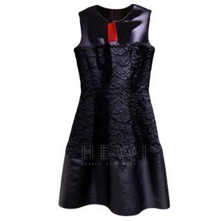 CH Carolina Herrera Satin & Lace Dress