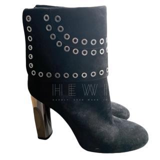 Alexander McQueen Eyelet Embellished Ankle Boots