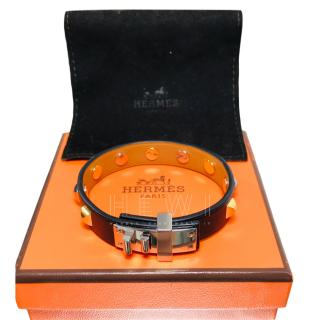 Hermes Mini Dog Clous Carres Bracelet.