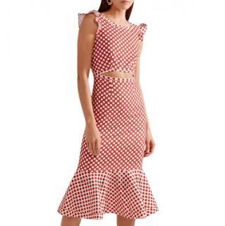 Saloni Red Spot Gaila Dress