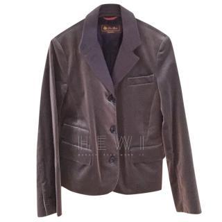 Loro Piana Grey Velvet Jacket