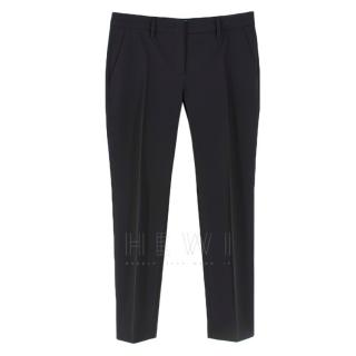 Prada Black Straight Leg Trousers