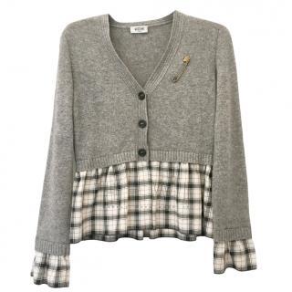 Moschino Jeans Cashmere, Wool & Alpaca Blend Cardigan Top