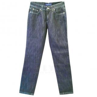 Trussardi Metallic Knit Blue Jeans