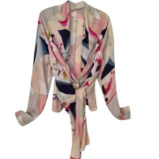 Kenzo Printed Silk Blouse