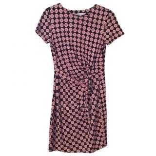 Diane Von Furstenberg Silk jersey Printed Dress, US 8