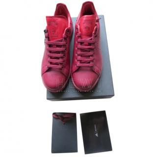 Adidas by Raf Simons Red Calf Leather Stan Smiths