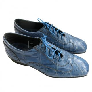 Stefano Ricci Blue Crocodile Trainers