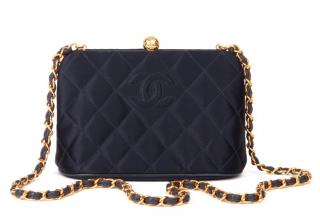 Chanel Vintage Satin Frame Shoulder Bag