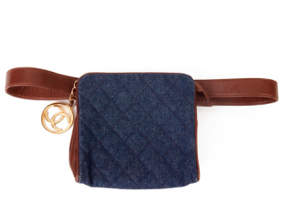 Chanel Denim & Leather Charm Belt Bag